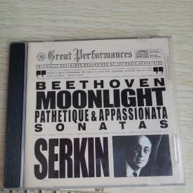 【唱片 】 贝多芬钢琴奏鸣曲 月光 悲怆 热情  CD1碟