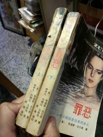 【2本一套合售一版一印】罪恶 一个从地狱走出来的女人 上下册  (美)的迪斯.古尔德  广西人民出版社