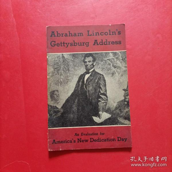 abraham lincolns gettysburg address   亚伯拉罕林肯葛底斯堡演说