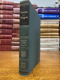布面精装原版 该书包含三本书,牛顿的Mathematical Principles of Natural Philosophy 和光学,还有惠更斯的光学