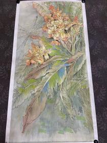 中美协会员官春英画家云南写生工笔国画
