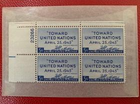 美国邮票 创立联合国