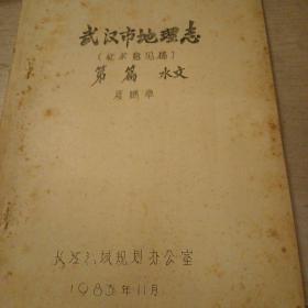 武汉市地理志(征求意见稿)水文