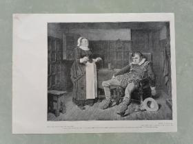 100年前 欧美 杂志 期刊 老版画 插图 散页 I