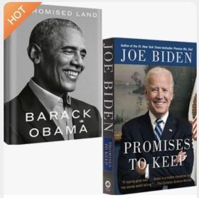 现货 应许之地:奥巴马自传回忆录+乔·拜登自传传记 信守诺言 套装2册 Barack Obama-A Promised Land&Promises to Keep Joe Biden