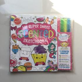 英文原版 Klutz系列 My Super Sweet Scented Sketchbook 涂鸦创意技巧 趣味儿童手工绘画书!