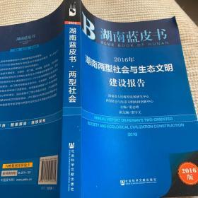 2016年湖南两型社会与生态文明建设报告