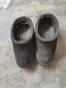 民国时期,手工纳底小脚鞋,长21公分