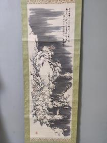日本回流字画,高士观雪图