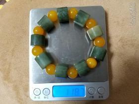 翡翠手串118.8克(隔珠材质不清楚)