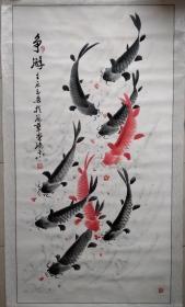 著名画家杨鸿志六尺整张国画作品