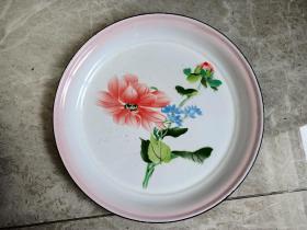 1964年西安产塘瓷茶盘(直径35厘米)