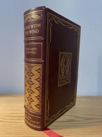 Gone with the Wind 《飘 》《乱世佳人》 Margaret Mitchell 玛格丽特·米切尔 经典小说 1937 年普利策奖作品 franklin library 1976年出版 真皮精装 限量收藏版