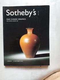 伦敦苏富比2002年11月拍卖会——瓷器,工艺品艺术专场