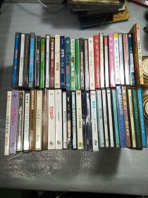 光盘VCD,CD,一批,45盒,刘德华,蔡琴,周杰伦,邓丽君,张学友,杨玉莹,张震嶽,梁咏琪等