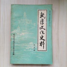 武汉文化史料 第五辑