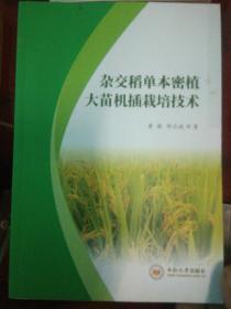 杂交稻单本密植大苗机插栽培技术