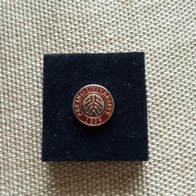 北大校徽 后面镶嵌着一个大珍珠。