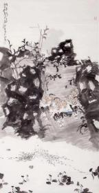 【终身保真字画,取自画家本人】 郝爱平137X68cm精品  笔名郝歌,1956年11月生于江苏省徐州市,祖籍沛县。现为中国美术家协会会员,中国科学家画院院长,人民艺术家——中国画刊总编。2004年被国家科技奖励办评为科学与艺术--优秀人民艺术家称号。郝爱平擅长人物画,尤其喜欢以儿童题材入画,作品纯真朴实,笔墨功力扎实,具有浓郁的生活气息。