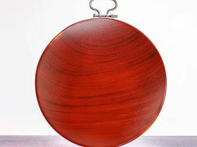 大型厚重檀木木雕摆件直径28厘米厚5厘米