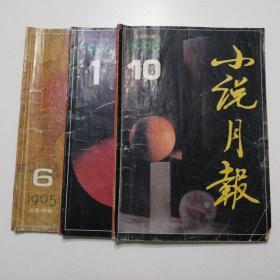 小说月报   (1995年第6期、1996年第1期、1996年第10期3本合售)