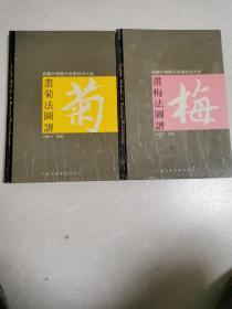 画梅法图谱十画菊法图谱(两本合售)精装