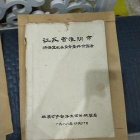江苏省淮阴市洪泽盆地岩盐普查评价报告