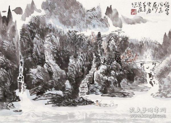 著名画家郭公达的精品山水
