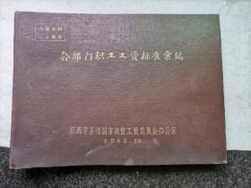 六十年代的景德镇市各部门职工工资标准汇编(布面精装)含有瓷业工人工资标准