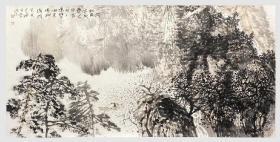 中美协会员,97百杰画家唐凤岐四尺整张山水精品