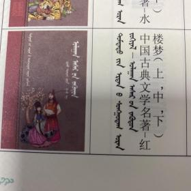 中国古典文学名著-红楼梦(上中下)蒙古文