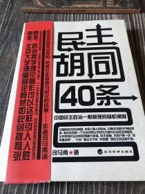 民主胡同40条:中国民主政治一般原理的随机阐释
