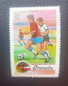 外国1974年世界杯邮票德国队,原胶全品