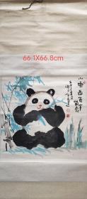 中国当代书画艺术研究会副会长石泉先生手绘立轴作品一幅