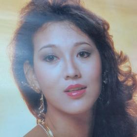 1987年挂历。香港著名影星艺术照。品相不好。