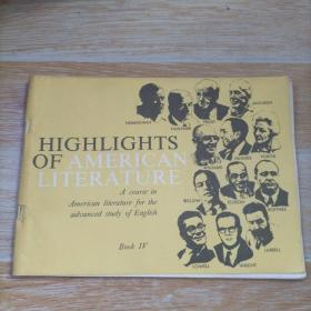 HIGHLGHTS OF AMERICAN LITERATURE Book Ⅳ