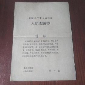 早期入团志愿书(空白)