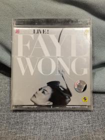 CD 王菲 非比寻常 Live 下  拆封 新索正版  个人收藏