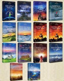 【全套14册】小王子简爱海底两万里老人与海飘傲慢与偏见1984了不起的盖茨比假如给我三天光明红与黑全英文原版书籍世界名著课外