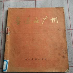 鲁迅在广州(24开彩版连环画)(馆藏自然旧)