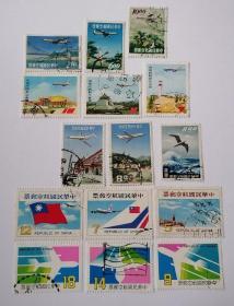 台湾 航14航16航17航19航20航21航空信销邮票6套合售