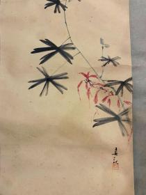 木內真秋花卉草虫挂轴