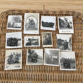 同一家人流出老照片12张 品相一般