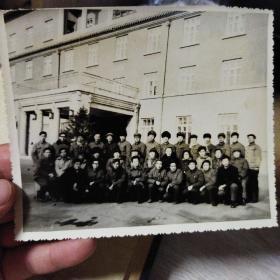 黑白老照片,1982年抚顺宾馆市领导召开会议