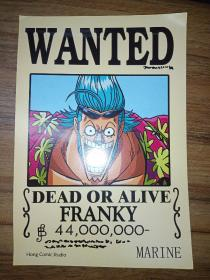 WANTED——DEAD OR ALIVE (FRANKY)【英文漫画卡片】
