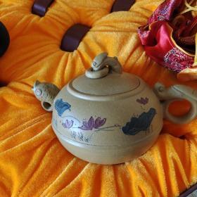 荷塘月色紫砂壶两套合售