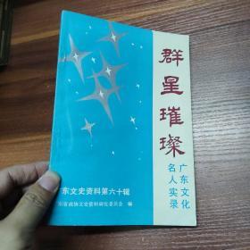 群星璀璨--广东文化名人实录 (广东文史资料第六十辑)