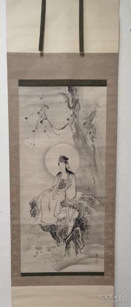 日本名家狩野常信观音菩萨图