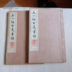 王小梅百美画谱全二册  品相绝佳私人收藏  带原始发票一张