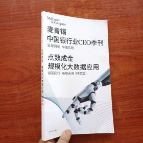 麦肯锡 中国银行业CEO季刊 点数成金规模化大数据应用 2019年冬季 精简版